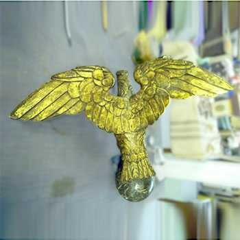 The Golden Eagle repaired glided, restoration completed
